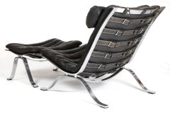 Black Buffalo Leather Arne Norell Ari Lounge Chair And