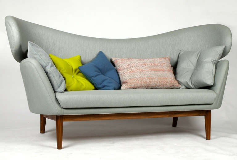 finn juhl baker sofa with variety of cushions at 1stdibs. Black Bedroom Furniture Sets. Home Design Ideas