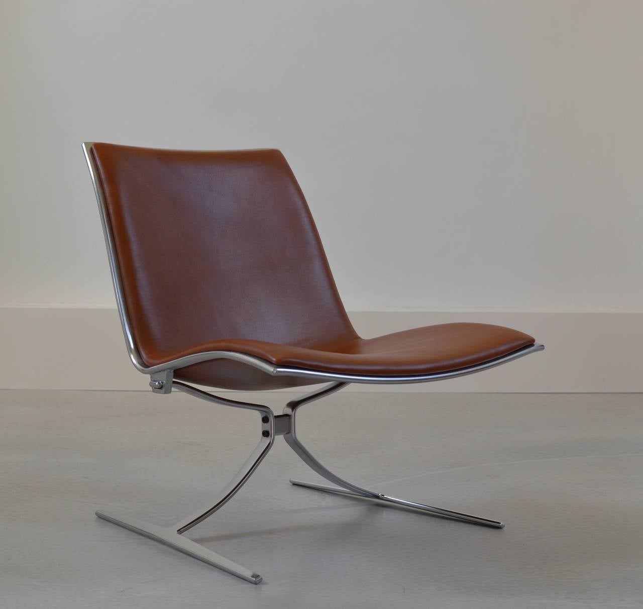 Tan leather office chair - Tan Leather Skater Chair By Preben Fabricius J Rgen Kastholm 2