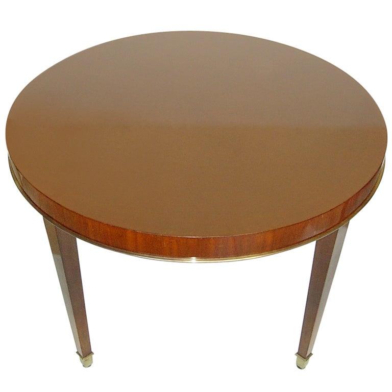 A Fine Round Decoene Mahogany Coffee Table At 1stdibs