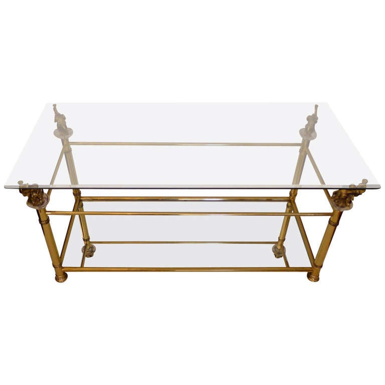 A two tier elephant neoclassical coffee table at 1stdibs Elephant coffee table