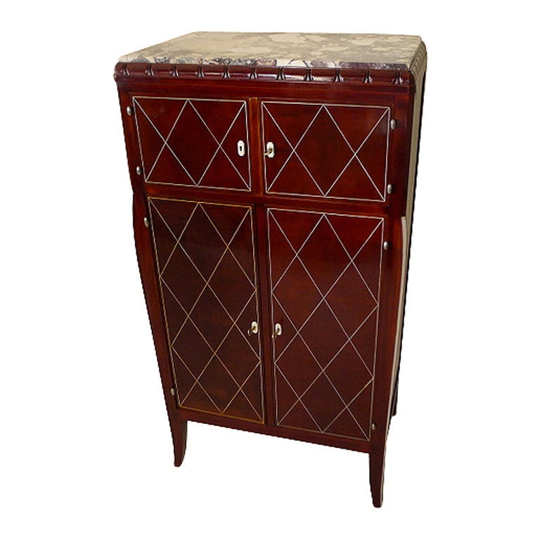 art deco mahogany armoire at 1stdibs. Black Bedroom Furniture Sets. Home Design Ideas