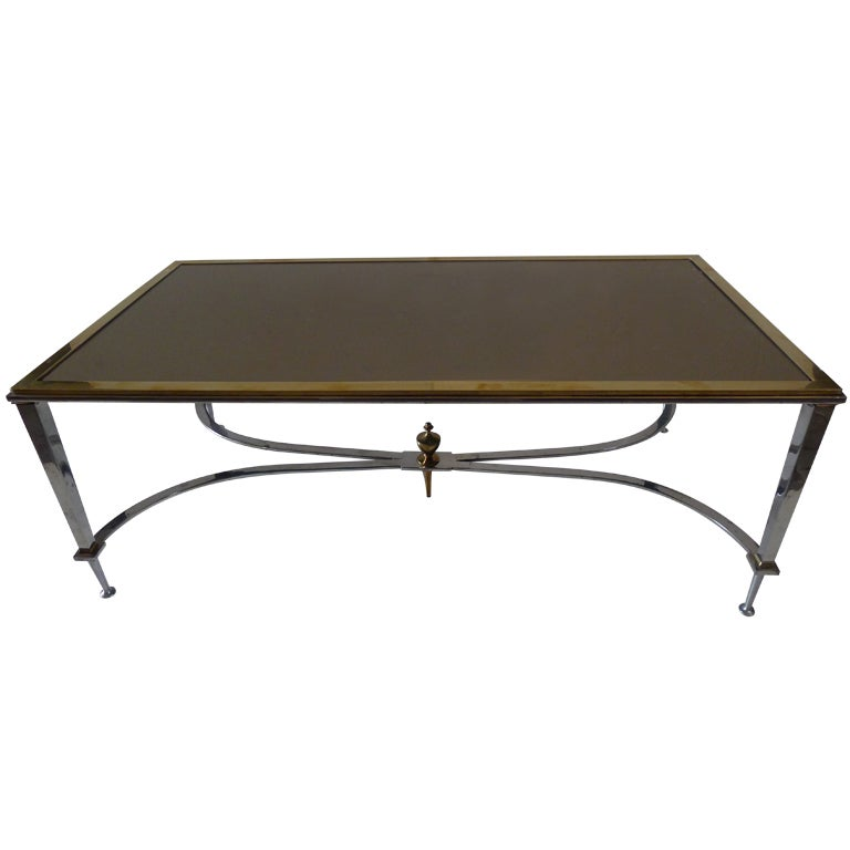 A Fine Jansen Rectangular Large Coffee Table At 1stdibs