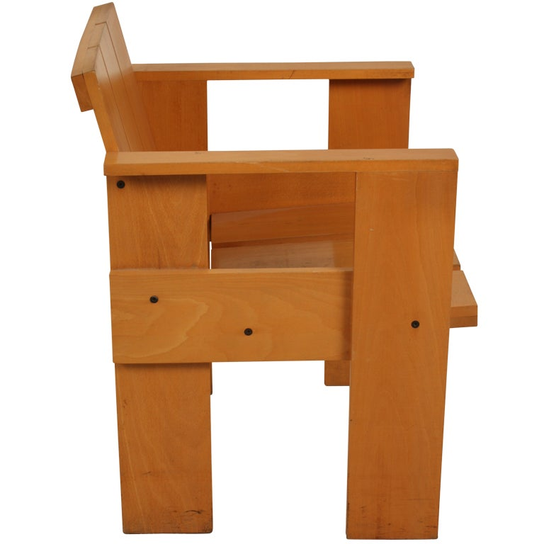 Dutch Design Gerrit Rietveld Crate Chair Cassina
