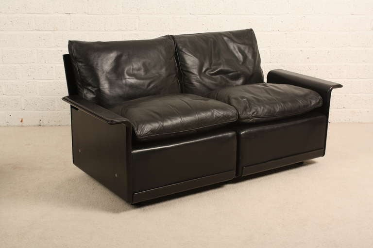 Dieter Rams Chair 620 Programm Vitsoe Black Leather At 1stdibs