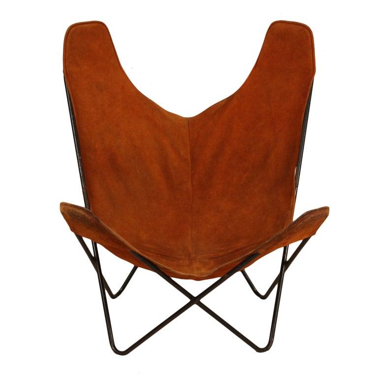 hardoy butterfly suede leather nice patine sculptural. Black Bedroom Furniture Sets. Home Design Ideas