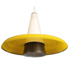 glass lamp yellow hat.
