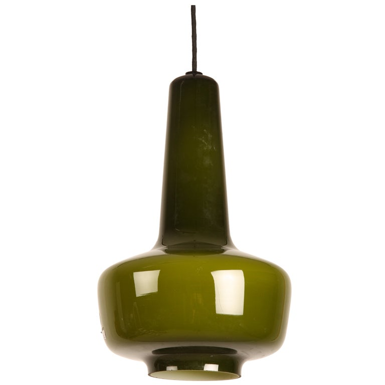 Kreta Jacob Bang Danish Fog And Morup Glass Lamp At 1stdibs