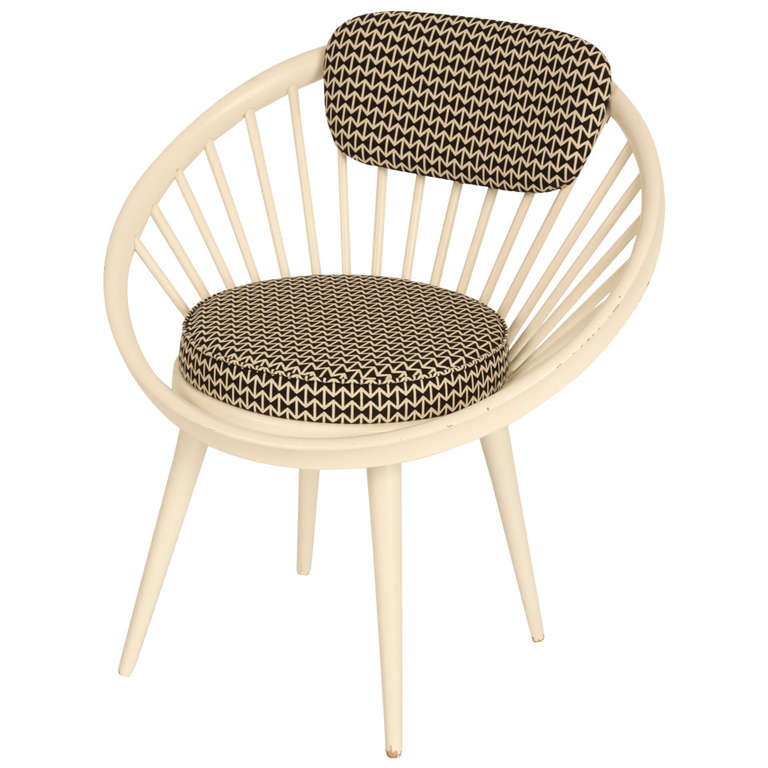 "Circle Chair circle chair with ""maharam"" fabric, yngve ekström for sale at 1stdibs"