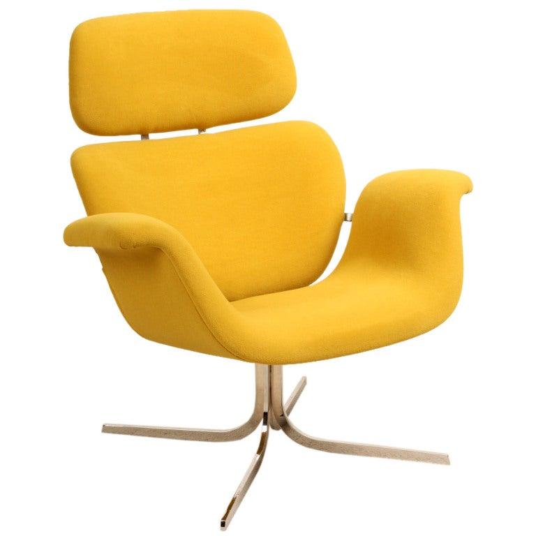 Pierre Paulin Ribbon Chairs In Missoni Fabric At 1stdibs: Pierre Paulin Big Tulip Yellow Wool At 1stdibs