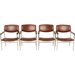 Set of Four Dutch Gijs Van Der Sluis Chairs Industrial Style