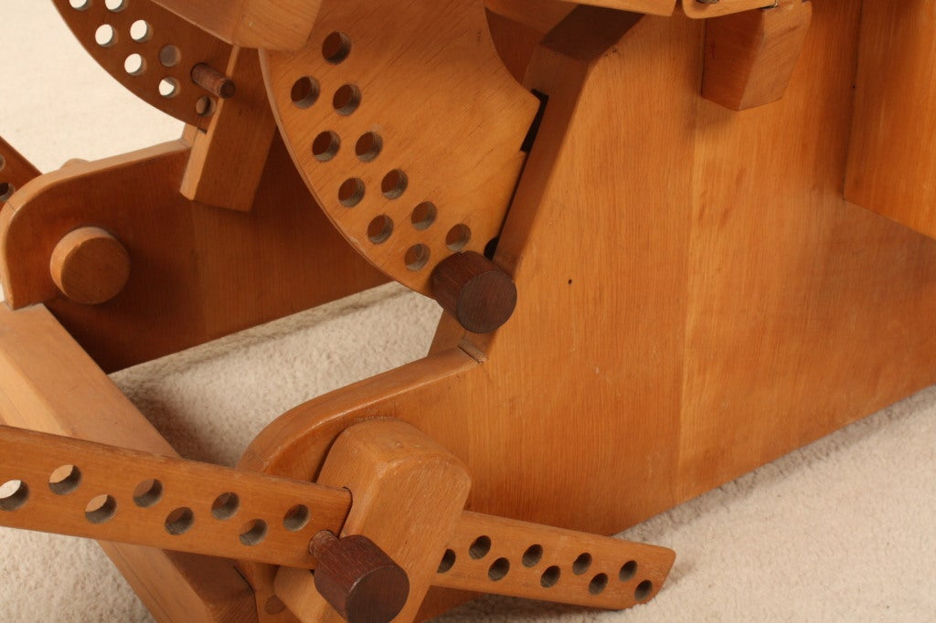 relaxchair sculpture in beech wood hand-made image 3