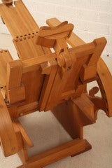 relaxchair sculpture in beech wood hand-made thumbnail 6