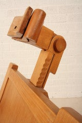 relaxchair sculpture in beech wood hand-made thumbnail 7