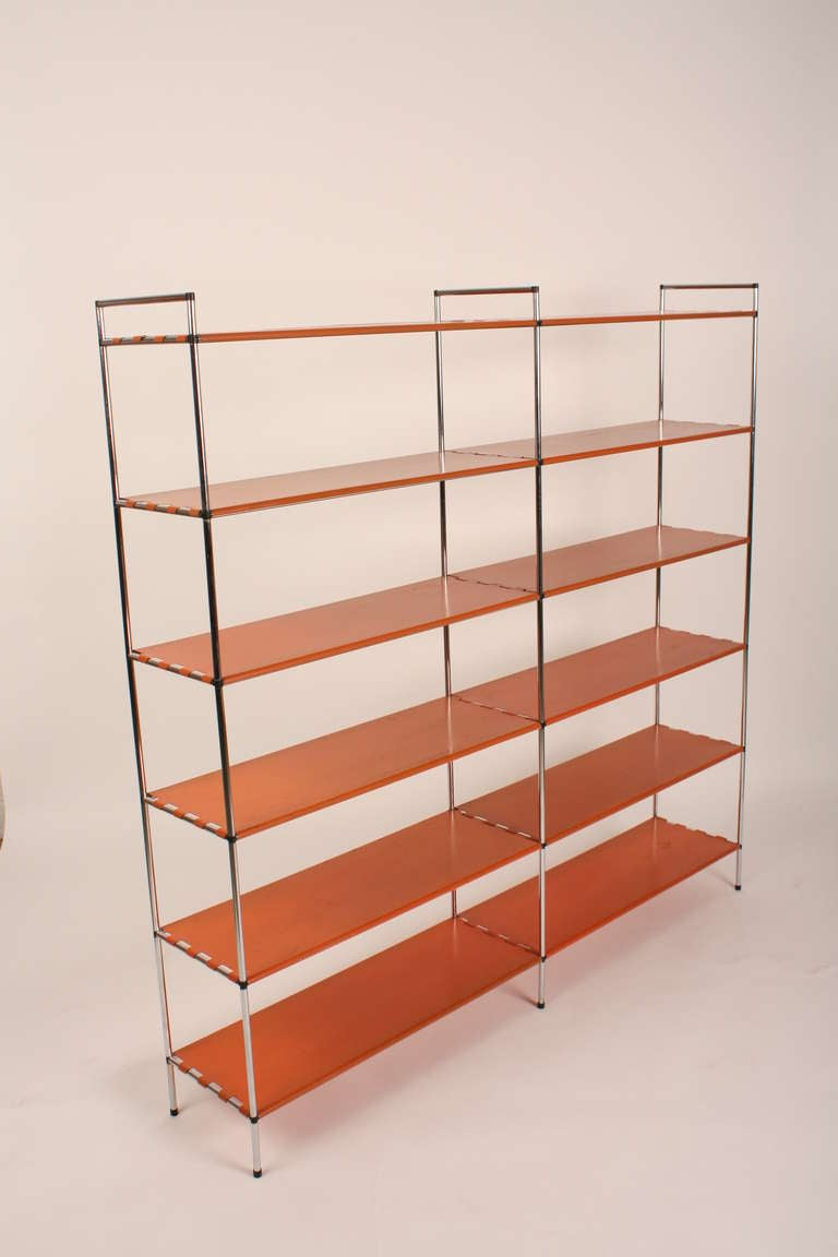 Metal Roomdivider Bookcase At 1stdibs