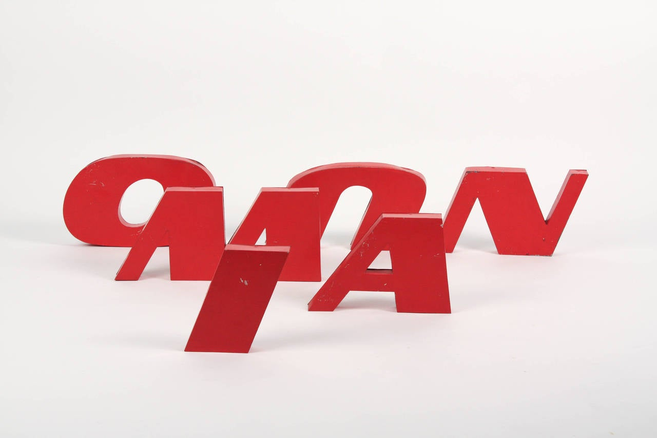 Steel lacquered letters a herd of elephants for sale at for Furniture 5 letters
