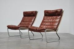 Jorgen Kastholm JK720 lounge chairs, Kill international 1970