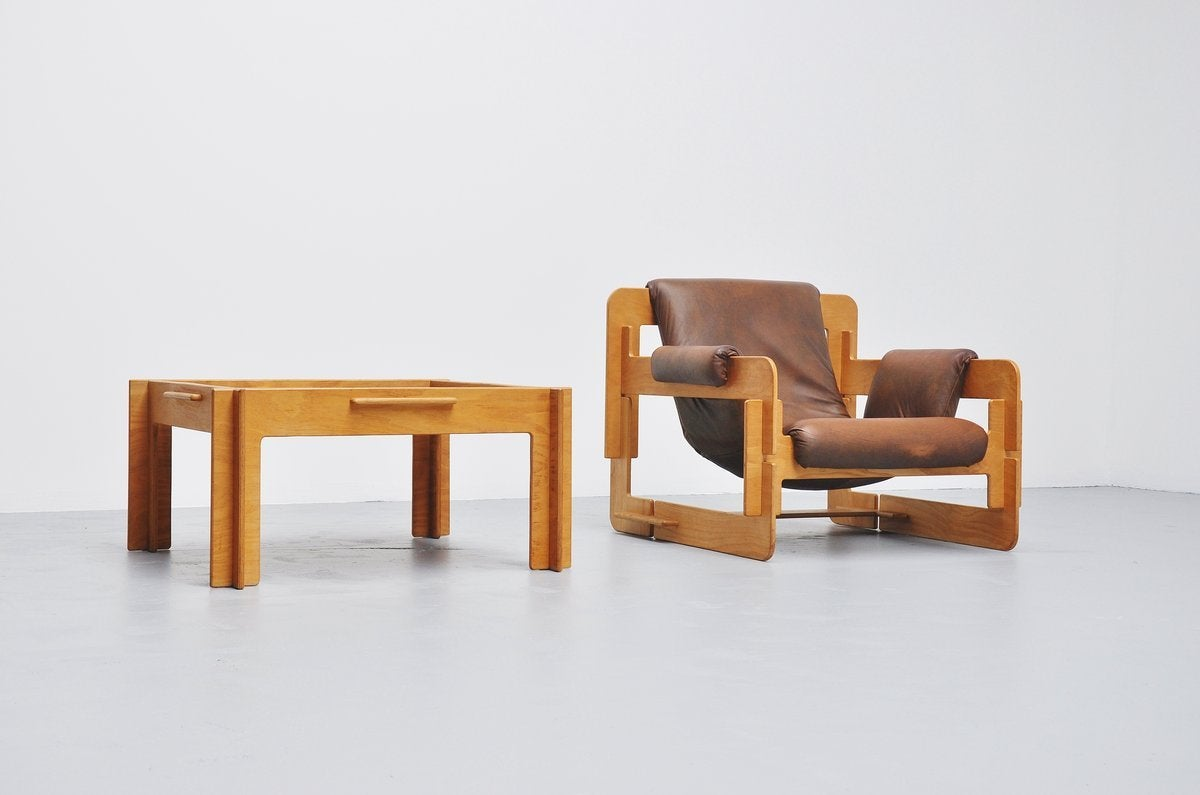 Leather Arne Jacobsen Plywood Lounge Chair for Fritz Hansen, 1960 For Sale