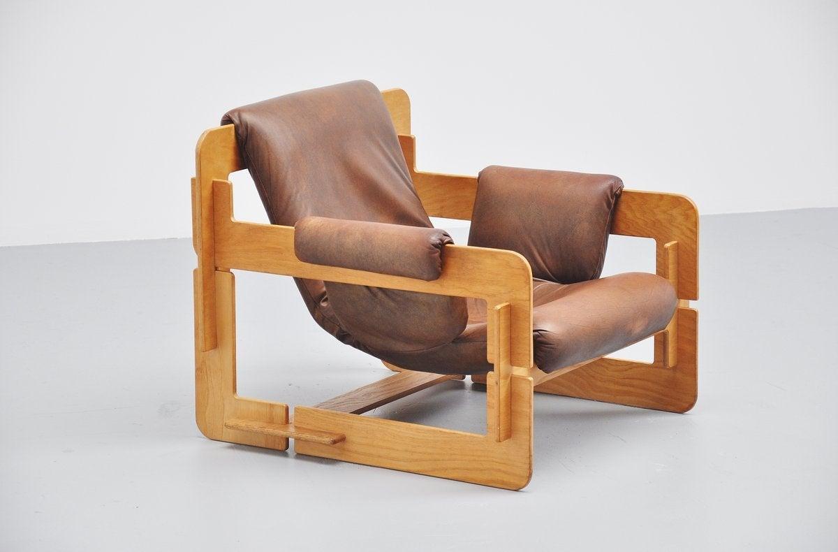 Scandinavian Modern Arne Jacobsen Plywood Lounge Chair for Fritz Hansen, 1960 For Sale