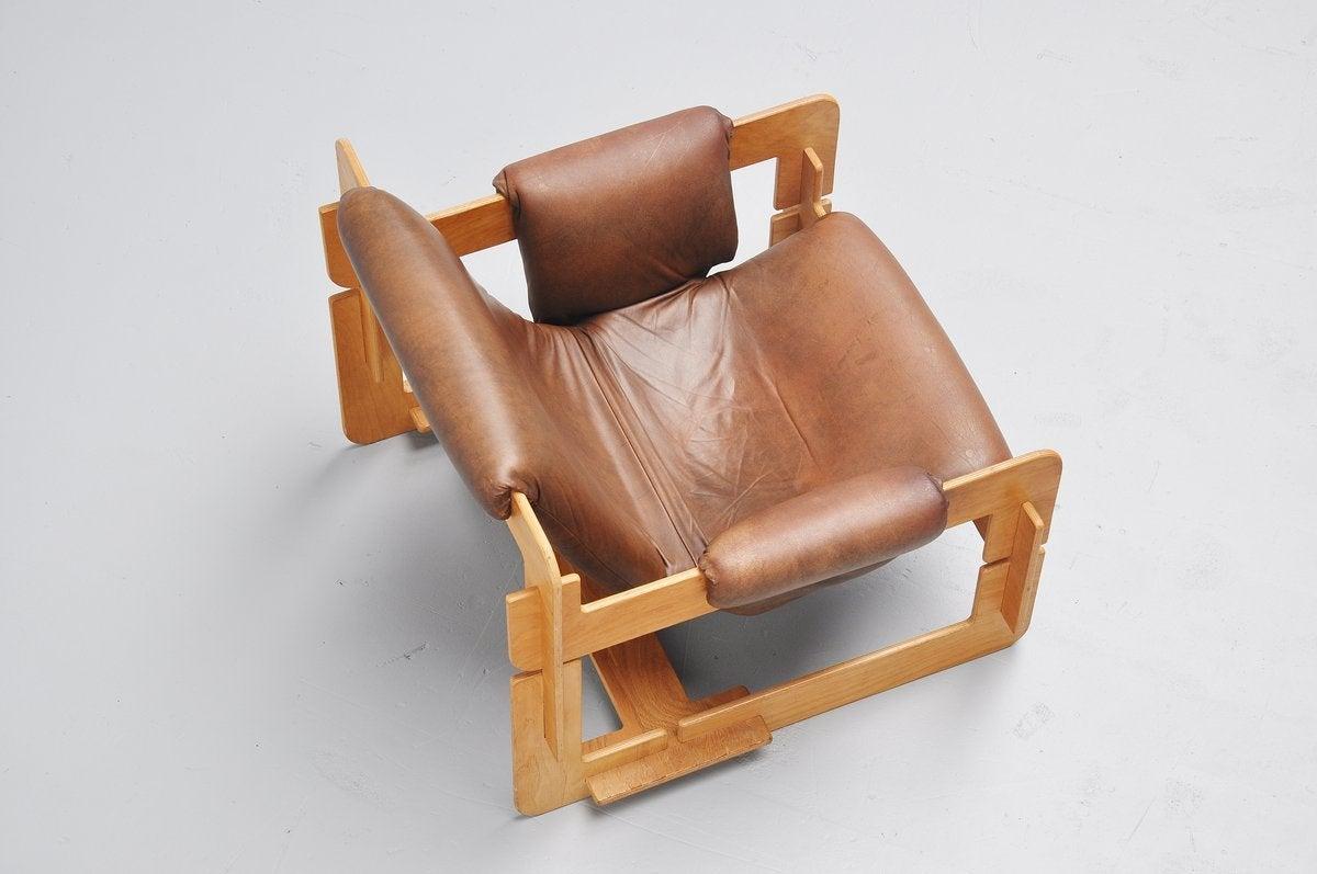 Danish Arne Jacobsen Plywood Lounge Chair for Fritz Hansen, 1960 For Sale