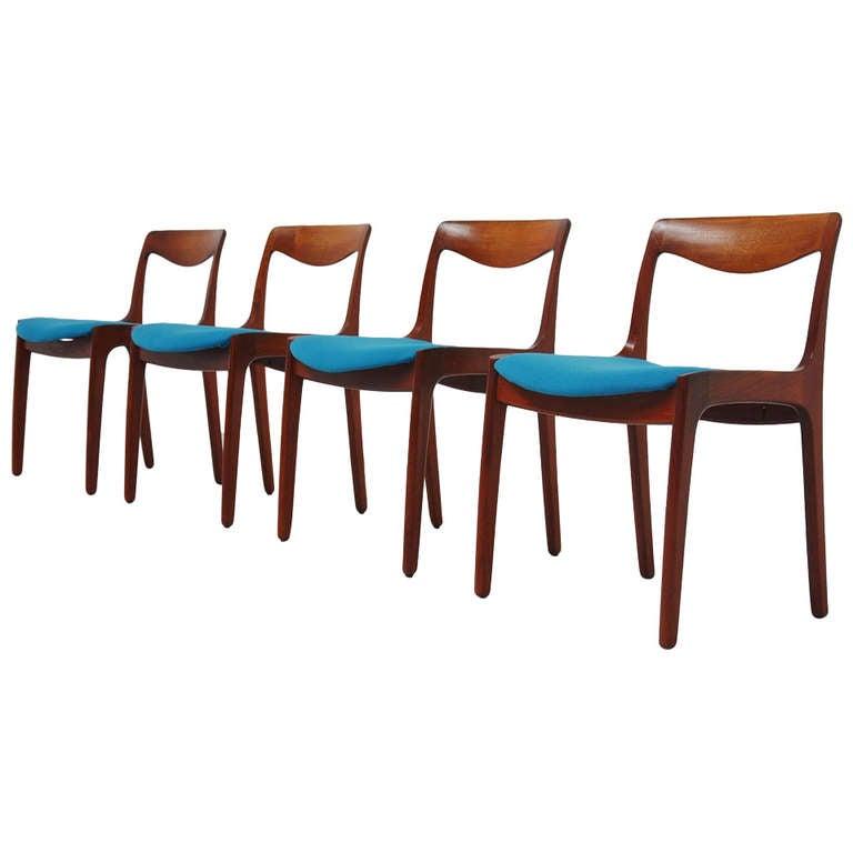 Vilhelm wohlert p jeppesen dining chairs set 1960 at 1stdibs for P jeppesen furniture