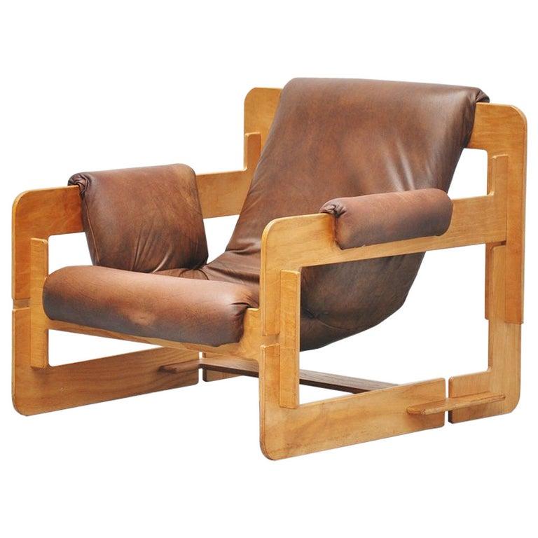 Arne Jacobsen Plywood Lounge Chair for Fritz Hansen, 1960 For Sale
