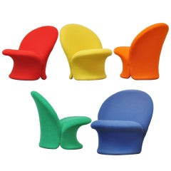 """Pierre Paulin """"F572"""" Chairs for Artifort, Kvadrat Upholstery, 1967"""