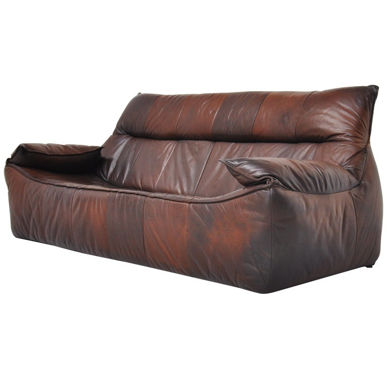 leather patchwork low rock sofa by montis 1970 at 1stdibs. Black Bedroom Furniture Sets. Home Design Ideas