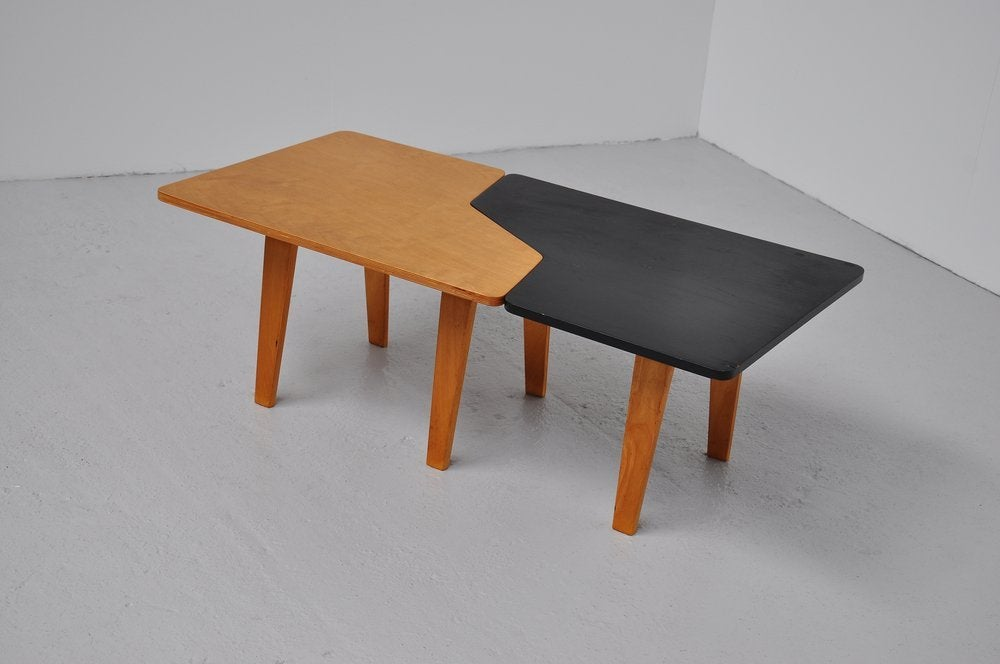 Pastoe combex tb puzzle table in black and beech wood