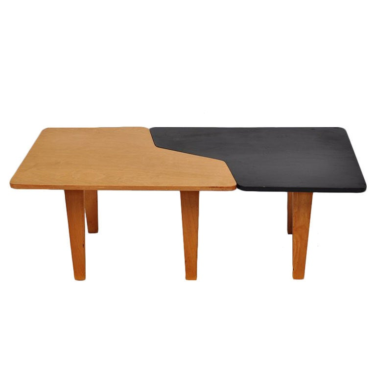 Pastoe combex tb14 puzzle table in black and beech wood for Beech coffee table