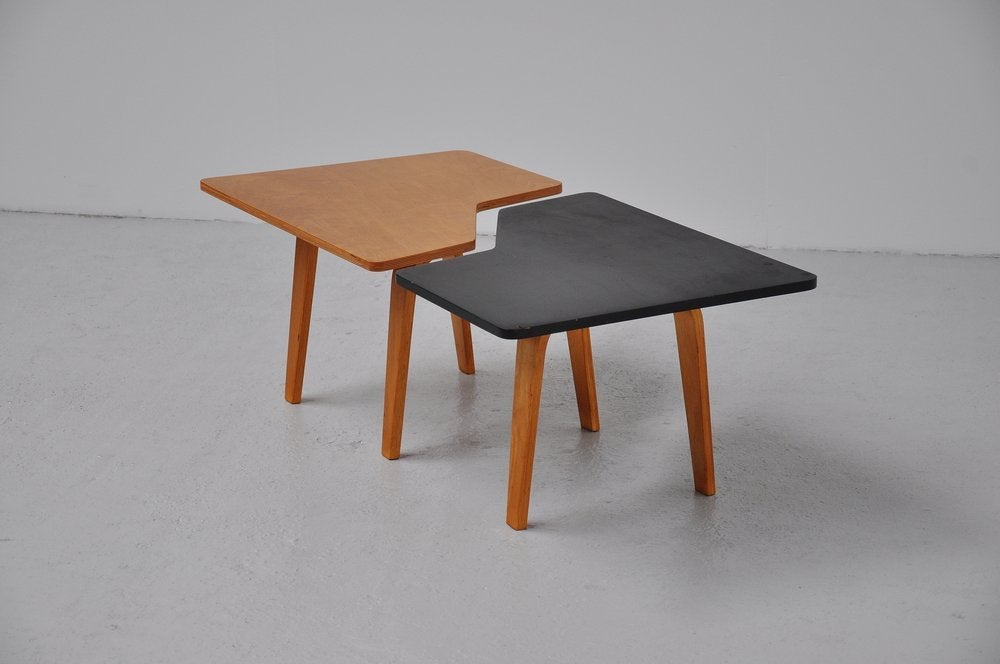 Pastoe Combex Tb14 Puzzle Table In Black And Beech Wood 1954 At 1stdibs