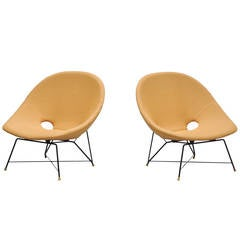 Augusto Bozzi lounge chairs for Saporiti Italy 1954