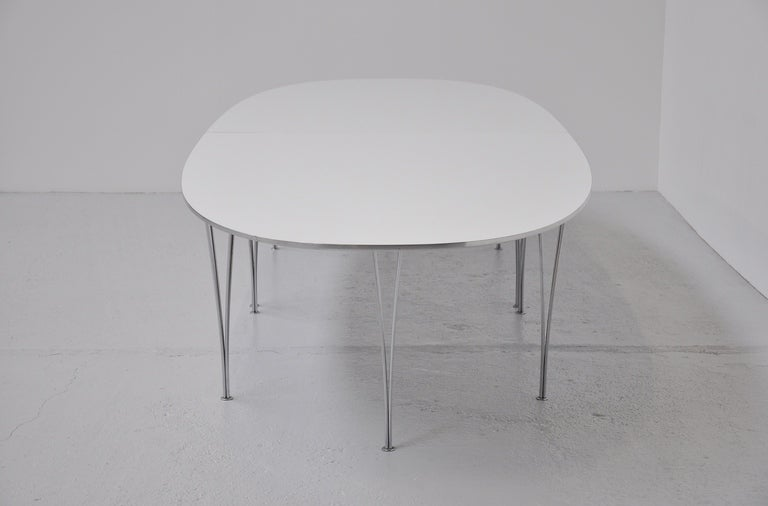 piet hein and bruno mathsson 158 inch super ellips table 1968 at 1stdibs. Black Bedroom Furniture Sets. Home Design Ideas