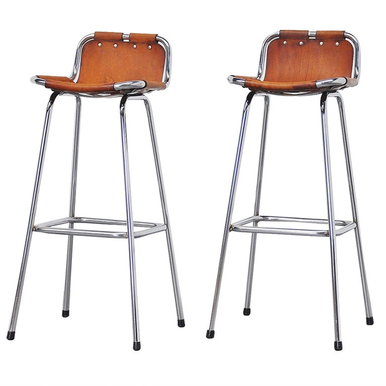 Set of two Charlotte Perriand stools, 1960