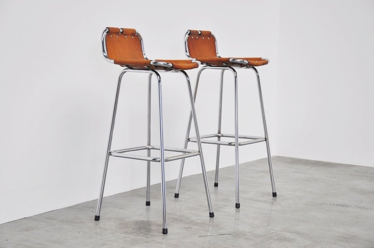 Mid-Century Modern Charlotte Perriand Stools for Les Arcs, 1960
