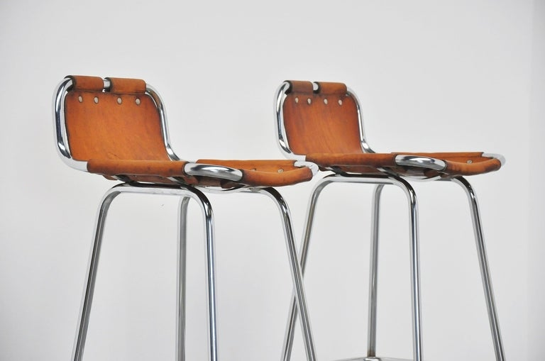 French Charlotte Perriand Stools for Les Arcs, 1960