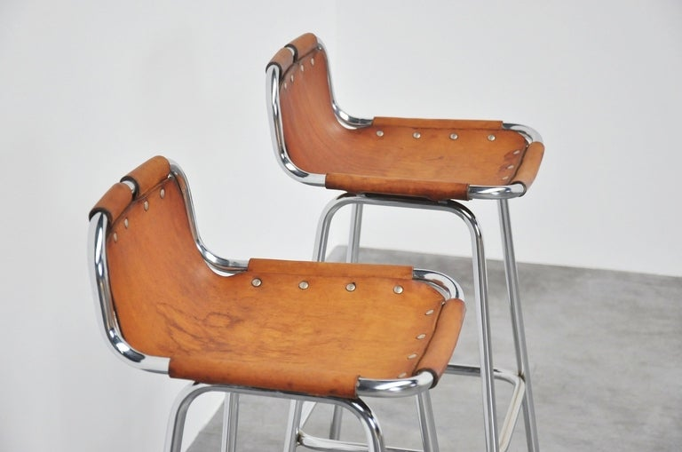 Charlotte Perriand Stools for Les Arcs, 1960 In Good Condition In Roosendaal, Noord Brabant