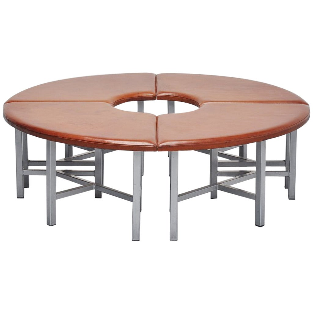 Very Nice Industrial Round Seating Bench 1970 At 1stdibs