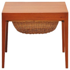 Severin Hansen Sewing Table by Haslev, Denmark, 1955
