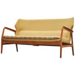Bovenkamp wingback lounge sofa by Aksel Bender Madsen 1960
