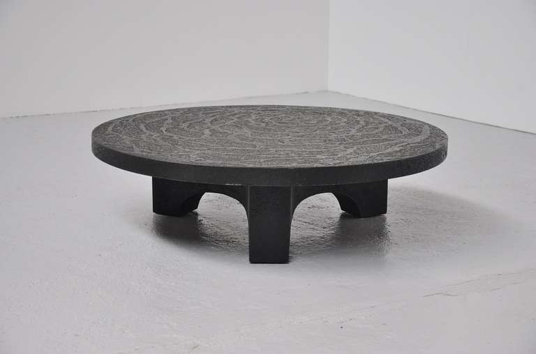 Brutalist Coffee Table, Belgium 1970 In The Manner Of Ado Chale 2