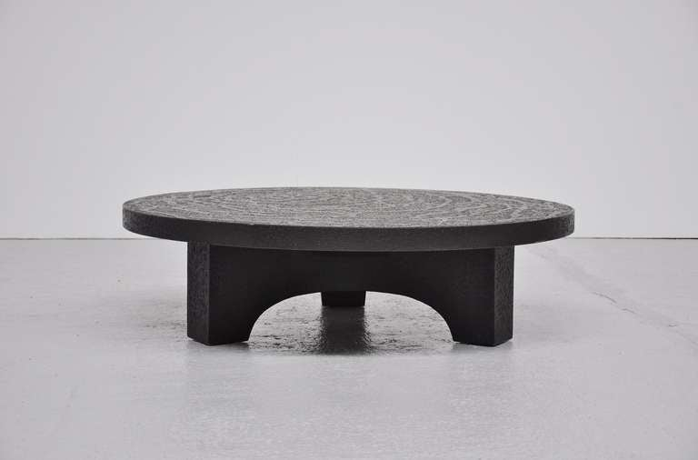 Brutalist Coffee Table, Belgium 1970 In The Manner Of Ado Chale 3
