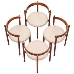 Hugo Frandsen Round Dining Chairs 1964