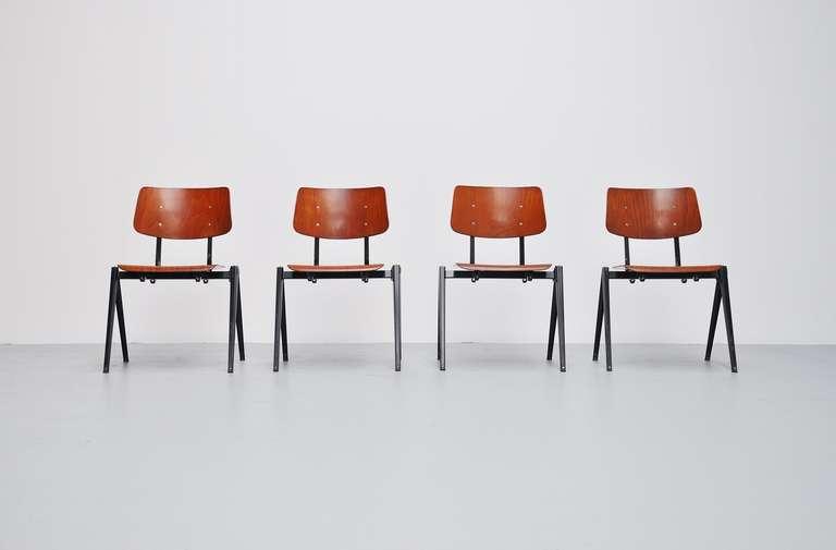 Industrial Galvanitas Stacking Chairs 1970 At 1stdibs