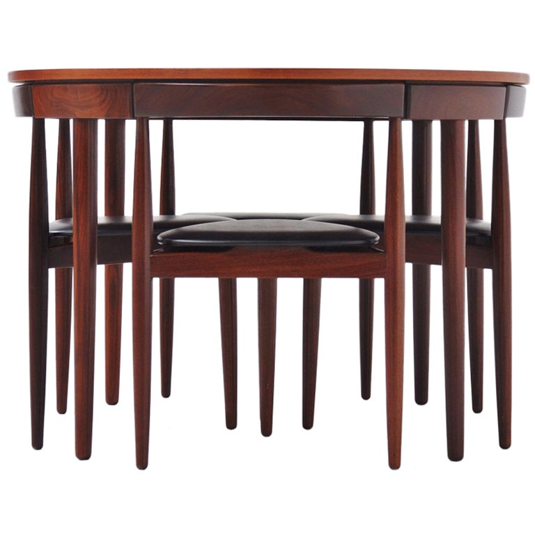 Hans Olsen Frem Rojle dining set in teak Denmark 1953 For Sale