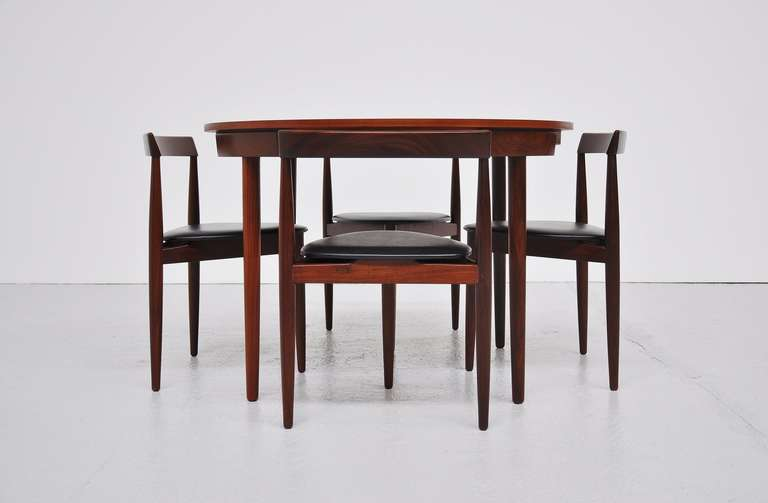 Teak Hans Olsen Frem Rojle dining set in teak Denmark 1953 For Sale