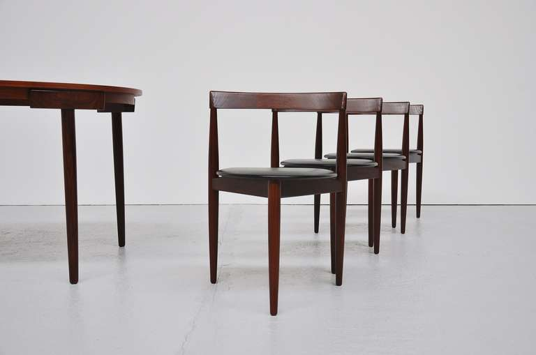 Hans Olsen Frem Rojle dining set in teak Denmark 1953 For Sale 1
