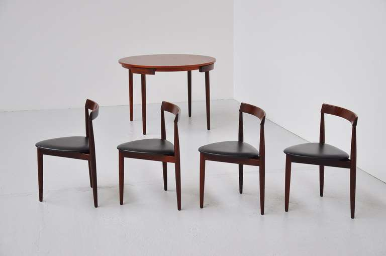 Hans Olsen Frem Rojle dining set in teak Denmark 1953 For Sale 2