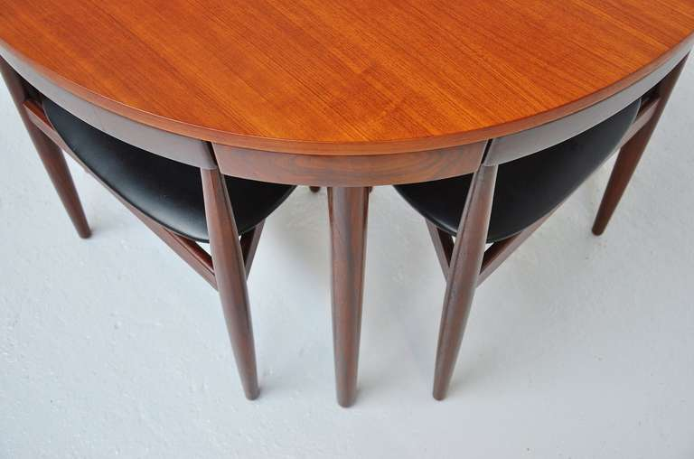 Hans Olsen Frem Rojle dining set in teak Denmark 1953 For Sale 3