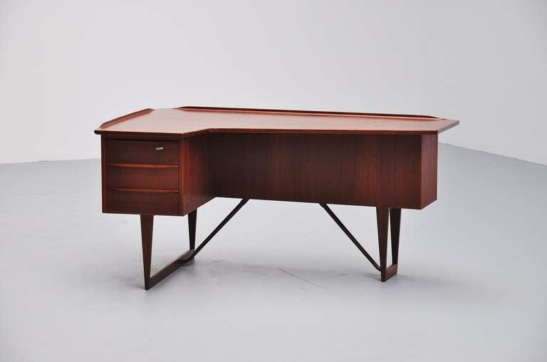 Peter Lovig Nielsen Teak Boomerang Desk 1956 3